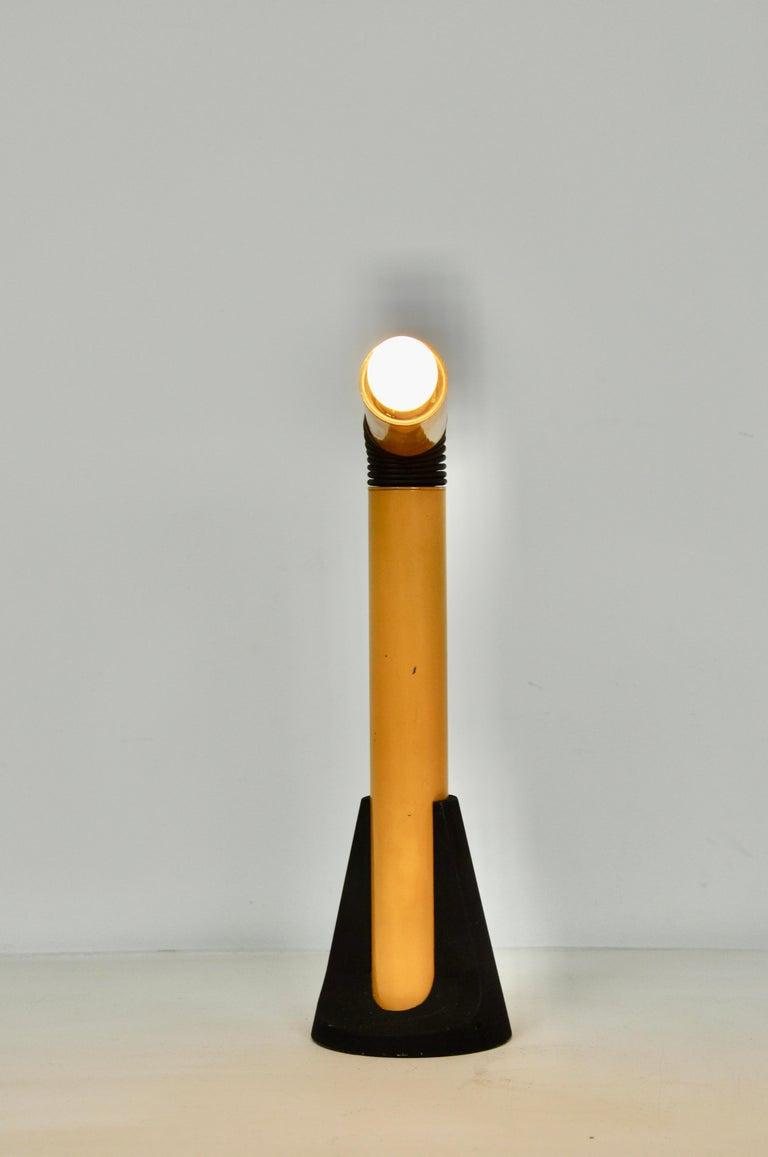 Mid-20th Century Yellow Periscope Table Lamp by Danilo Aroldi for Stilnovo, 1960s For Sale