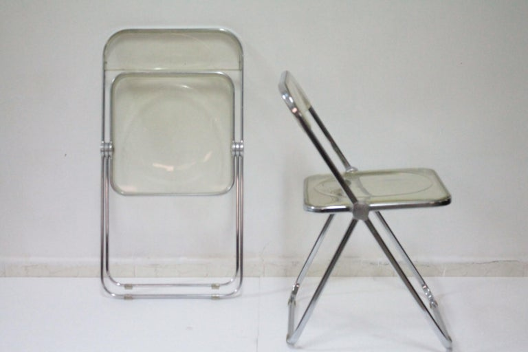Yellow Plia Folding Chairs by Giancarlo Piretti for Castelli, 1967 For Sale 6