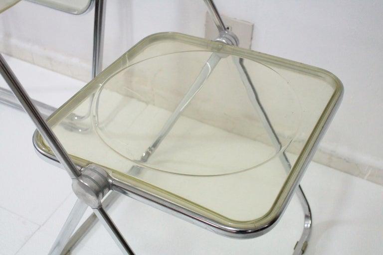 Yellow Plia Folding Chairs by Giancarlo Piretti for Castelli, 1967 For Sale 8