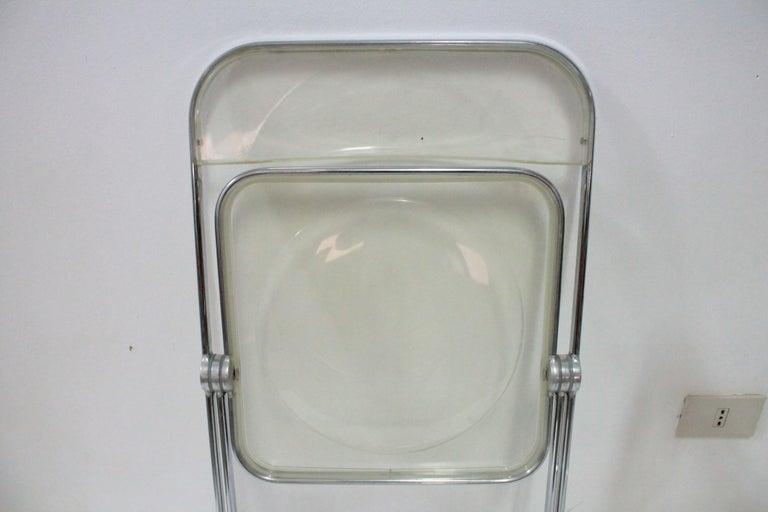 Yellow Plia Folding Chairs by Giancarlo Piretti for Castelli, 1967 For Sale 11