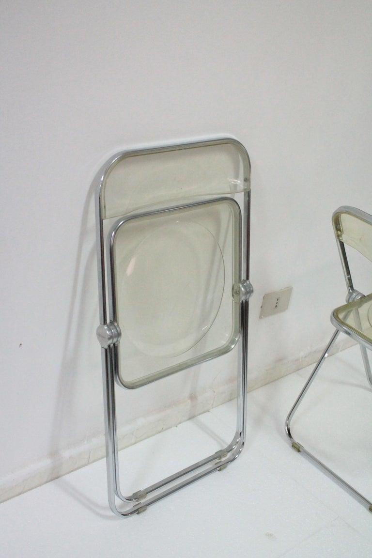 Yellow Plia Folding Chairs by Giancarlo Piretti for Castelli, 1967 For Sale 12