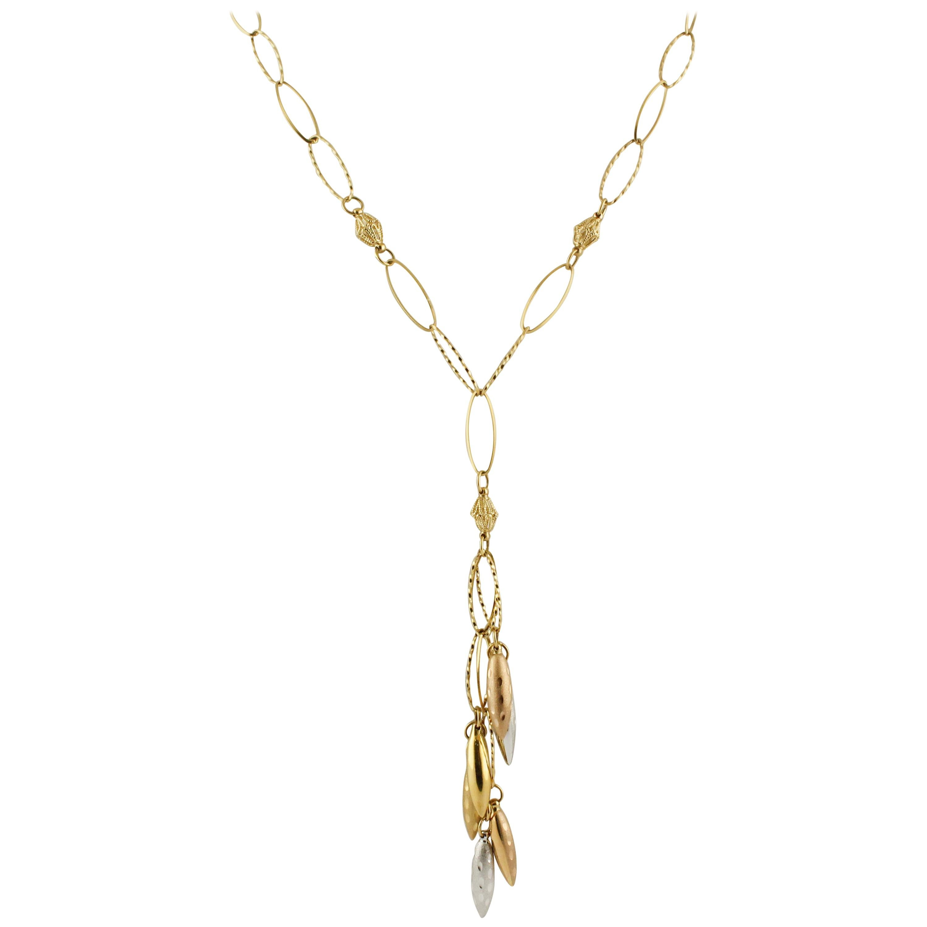 Yellow, Rose, White Gold Necklace