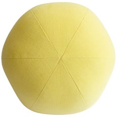 Yellow Round Ball Throw Pillow