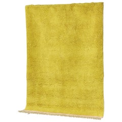 Yellow Rug in Moroccan Hand Knotted Berber Wool by Julie Richoz