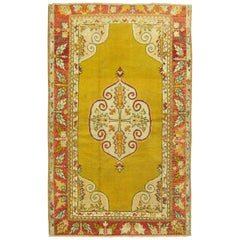 Yellow Rug Made in Turkey