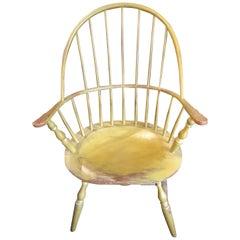 "Yellow ""Sac Back"" Windsor Chair"