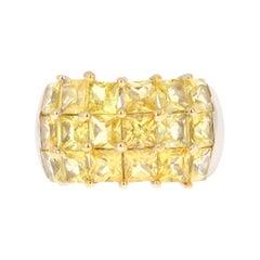 Yellow Sapphire 14 Karat White Gold Ring