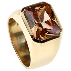 Yellow Sapphire 18 Karat Gold Ring