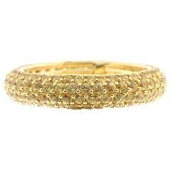 Yellow Sapphire and 18 Karat Gold Eternity Ring