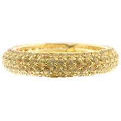 Yellow Sapphire and 18 Karat Yellow Gold Eternity Ring