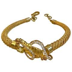 Yellow Sapphire and Diamond Bangle or Bracelet in 22 Karat Yellow Gold 20.8 Gram