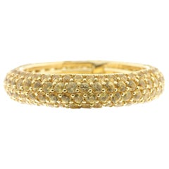 Yellow Sapphire and Yellow Gold Eternity Ring, Multi-Size