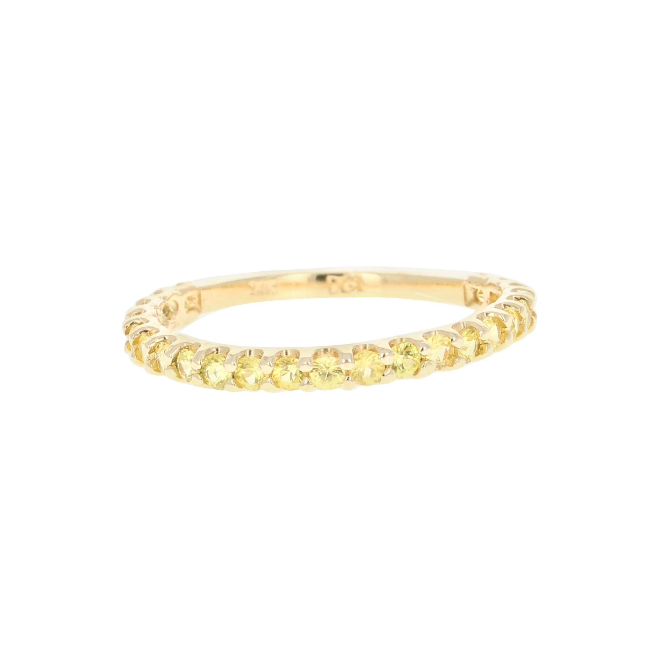 Yellow Sapphire Band 14 Karat Yellow Gold
