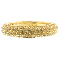 Yellow Sapphire Eternity Ring in 18 Karat Yellow Gold