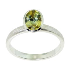 Yellow Sapphire Modernist 18 Karat Gold Stacking Ring Fine Estate Jewelry