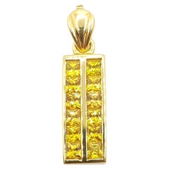 Yellow Sapphire Pendant Set in 18 Karat Gold Settings