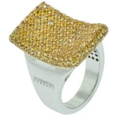 Roberta Porrati 18K Yellow Sapphire Ring