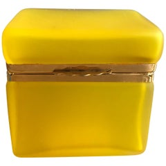 Yellow Satin Glass Box