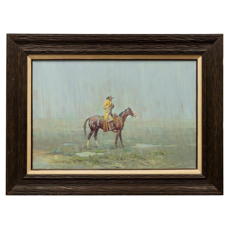 """""""Yellow Slicker"""" Original Oil Painting by Ace Powell For Sale"""
