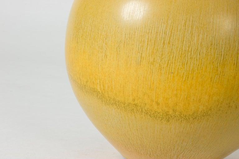 Mid-20th Century Yellow Stoneware Vase by Berndt Friberg