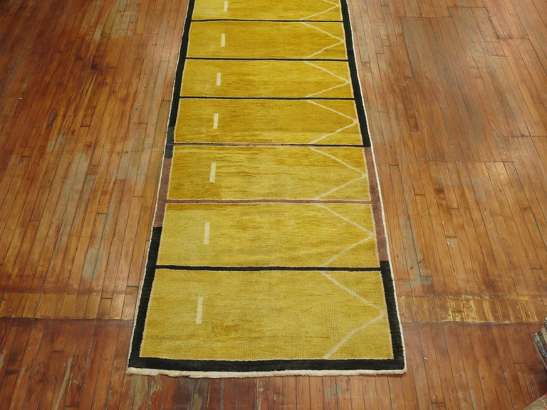Yellow Turkish Modernist Runner For Sale 3