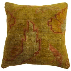 Yellow Turkish Oushak Pillow