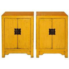 Yellow Two-Door Chest