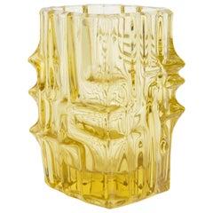 Yellow Vase by Vladislav Urban for Sklo Union, 20th Century, Europe, 1960s