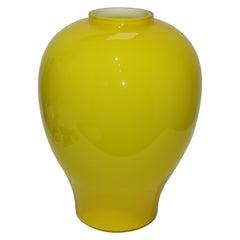 Yellow Vetri Murano Glass Vase