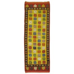 Yellow Vintage Turkish Runner
