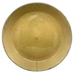 Yellow Ware Rimmed Dish