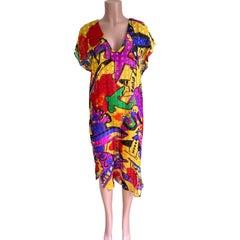Pop Art Print Sheer Silk Dress - FLORA KUNG