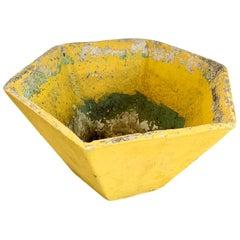 Yellow Willy Guhl Hexagon Planter