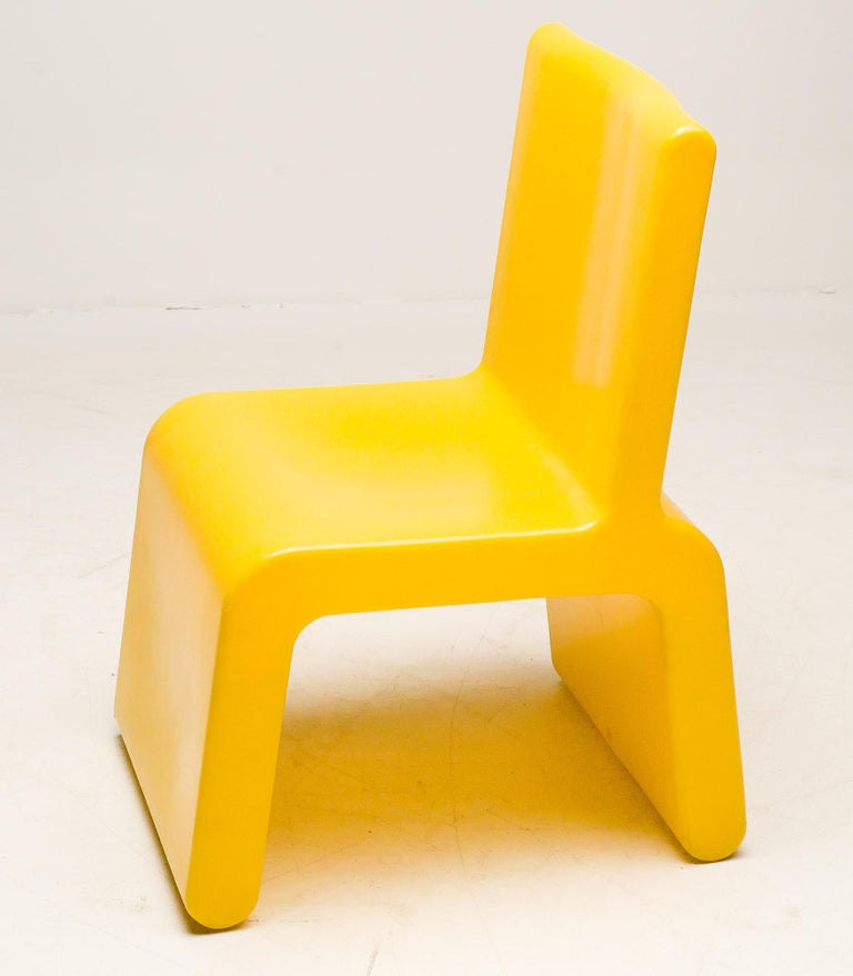 Belgian Yellow WL&T Chair by Marc Newson for Walter Van Beirendonck For Sale