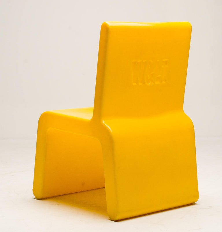 Yellow WL&T Chair by Marc Newson for Walter Van Beirendonck In Good Condition For Sale In Dronten, NL