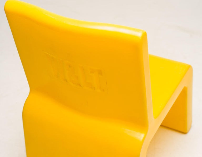 Plastic Yellow WL&T Chair by Marc Newson for Walter Van Beirendonck For Sale