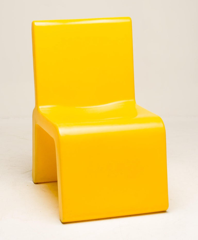 Yellow WL&T Chair by Marc Newson for Walter Van Beirendonck For Sale 1