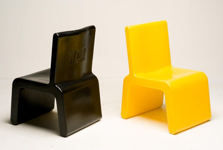 Yellow WL&T Chair by Marc Newson for Walter Van Beirendonck For Sale 2