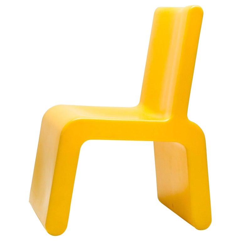 Yellow WL&T Chair by Marc Newson for Walter Van Beirendonck For Sale