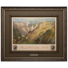 """Yellowstone Park"" Northern Pacific Railroad Poster, after Thomas Moran, 1924"