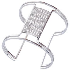 Yemyungji Diamond 18 Karat White Gold Initialed Y Bangle