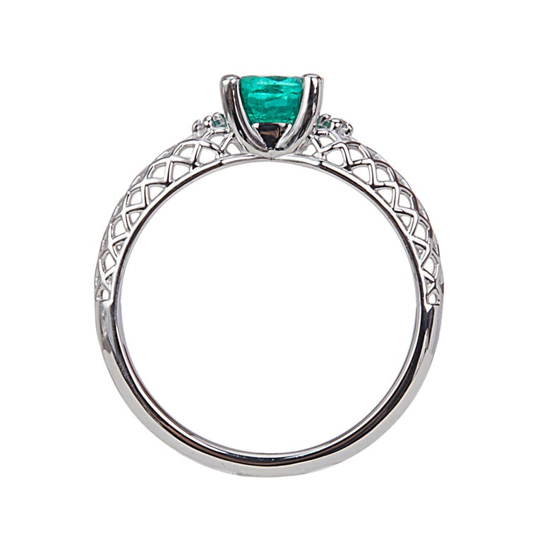 Yemyungji Emerald Ruby Sapphire Oval Cut Solitaire Layering Ring Set In New Condition For Sale In Seoul, Seoul