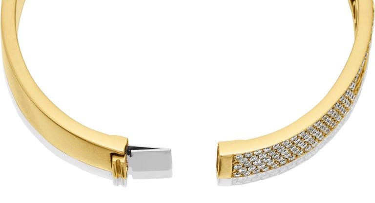 Yessayan Happy/Moving Diamond Bangle in 18 Karat Yellow Gold For Sale 4