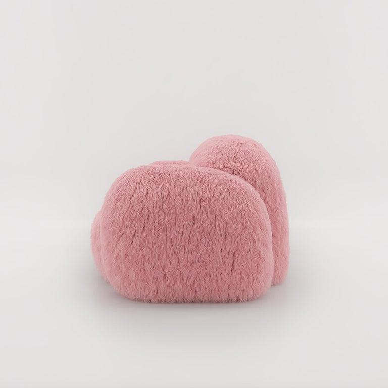 Faux Fur Yeti Sofa by NUMO For Sale