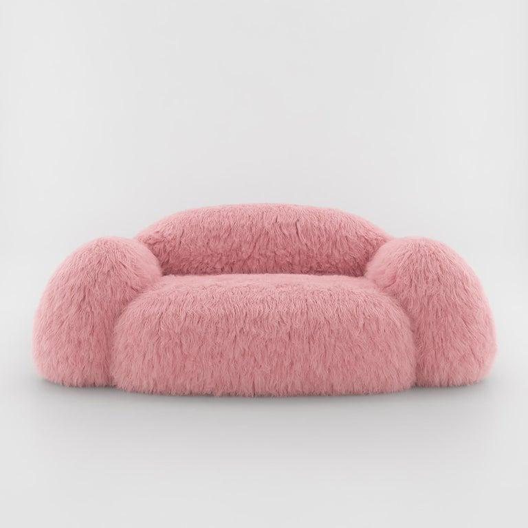 Faux Fur Yeti Sofa by Vladimir Vladimir Naumov