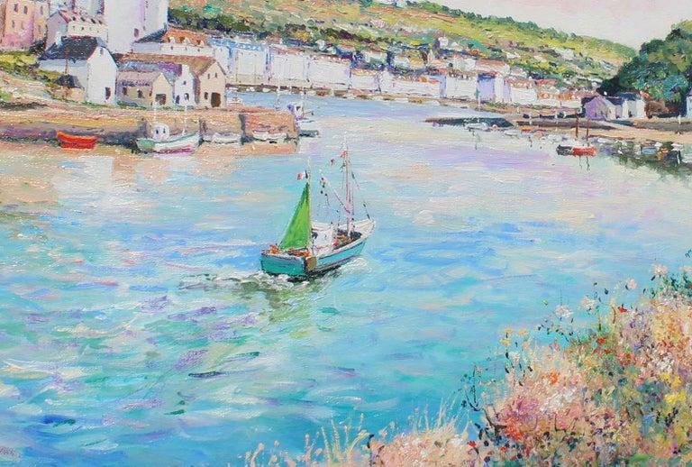 Audierne, Finistère-Sud. France. - Impressionist Painting by Yetvart Kaprielian