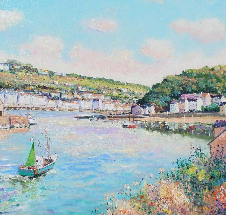 Audierne, Finistère-Sud. France. - Blue Landscape Painting by Yetvart Kaprielian