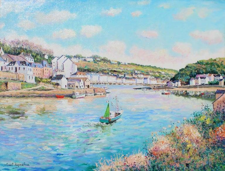 Yetvart Kaprielian Landscape Painting - Audierne, Finistère-Sud. France.