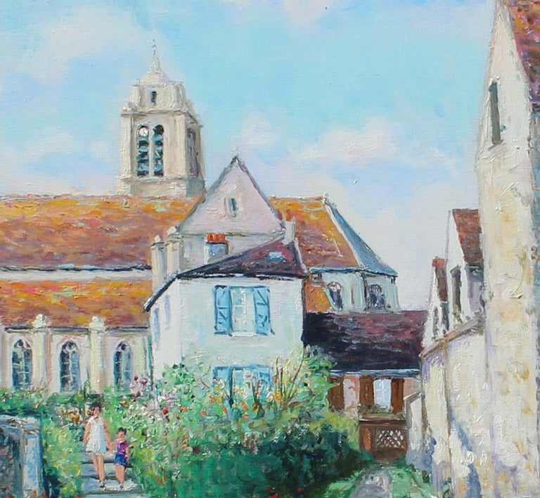 France, ëglise d' ëpiais - Rhus en Vexin. - Impressionist Painting by Yetvart Kaprielian