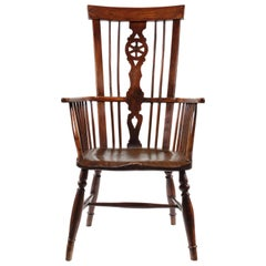 Yew Wood and Elm High-Back Windsor Armchair, Thames Valley, circa 1800